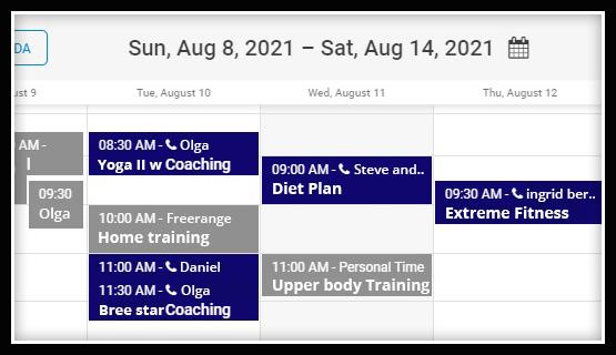club and gym online scheduler